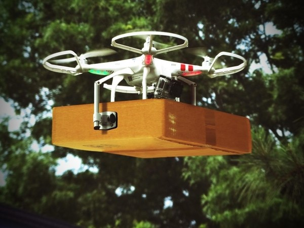 drone being used for logistics