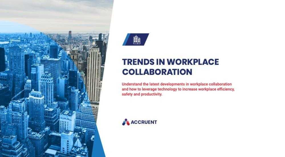 Accruent - Resources - eBooks - Trends in Workplace Collaboration - Cover Image