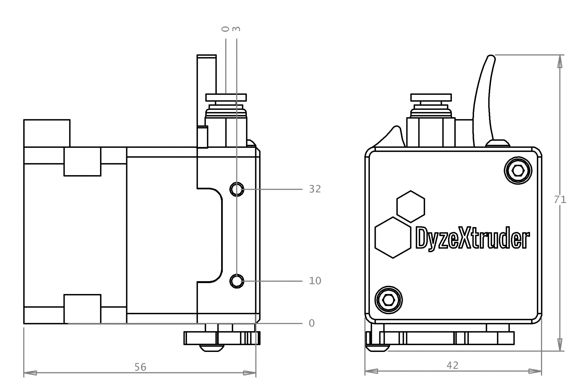 DyzeXtruder-GT Drawings