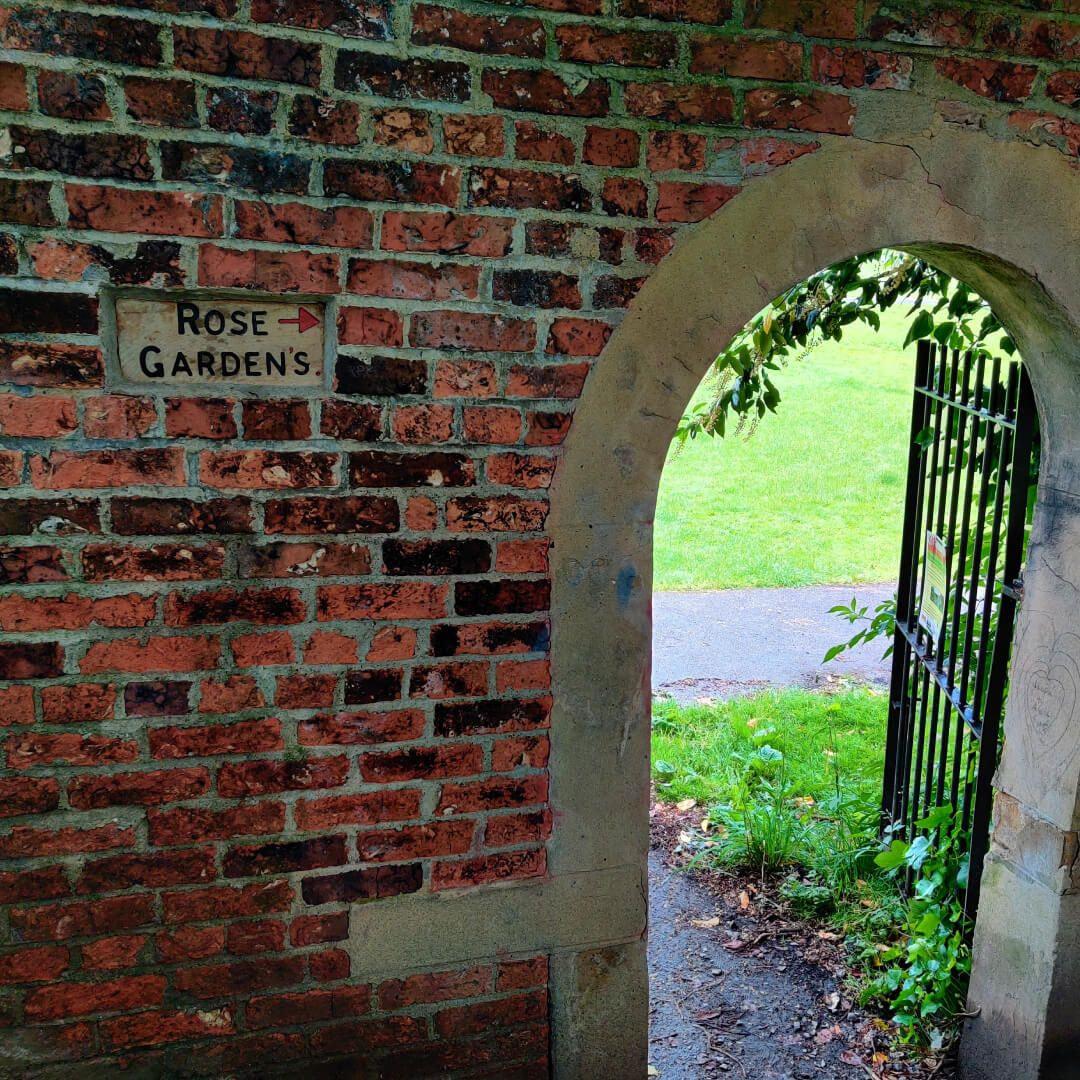 Gotts Park Rose Garden entrance