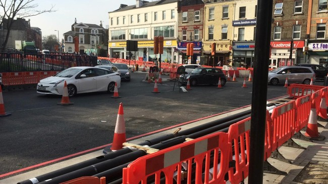 Chapter 8 barriers - high visibility - traffic management - London