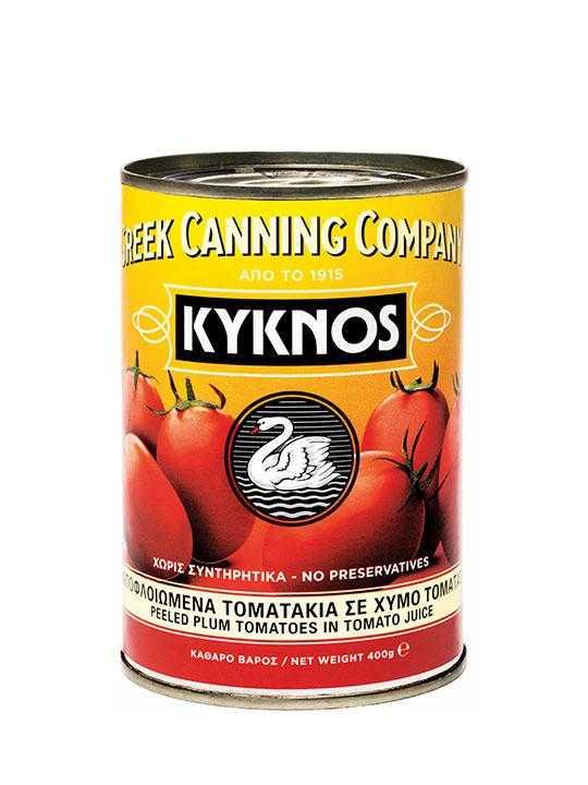 Tomates pelées entières - 400g - Kyknos