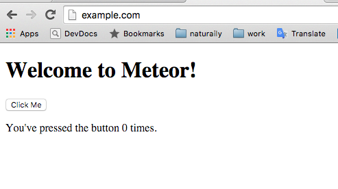 welcome to meteor