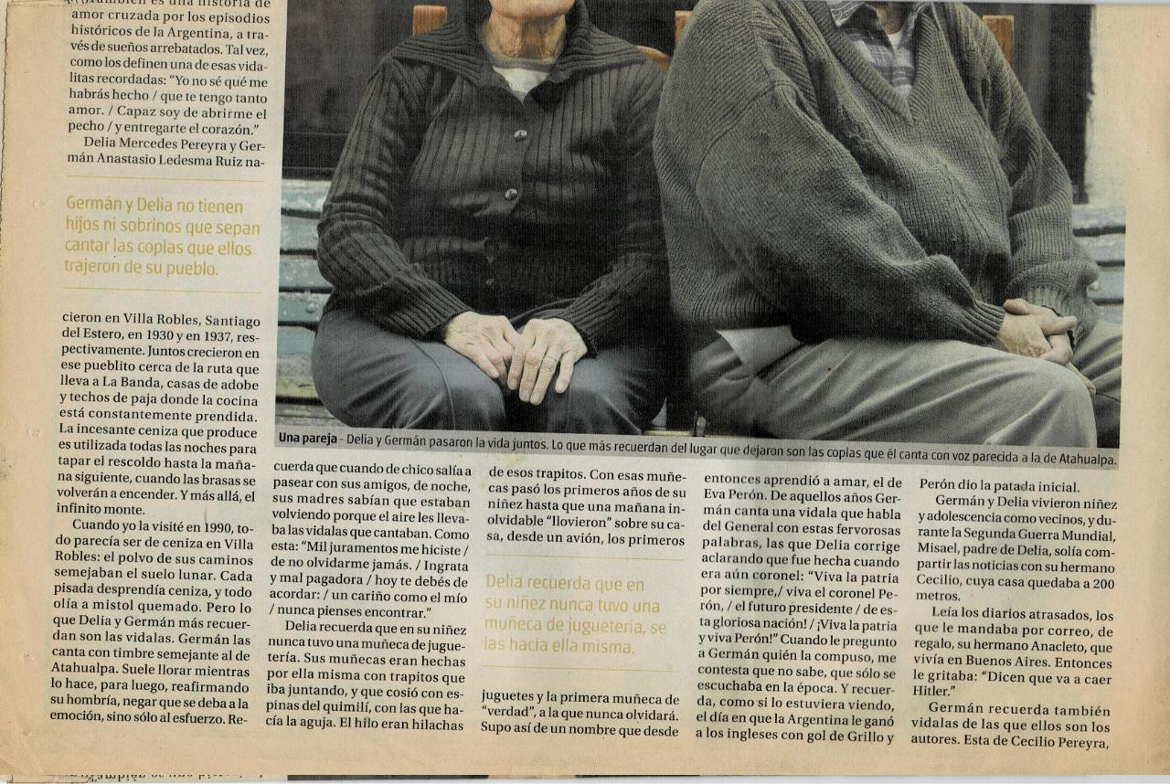 Delia y German Ledesma en Tiempo Argentino