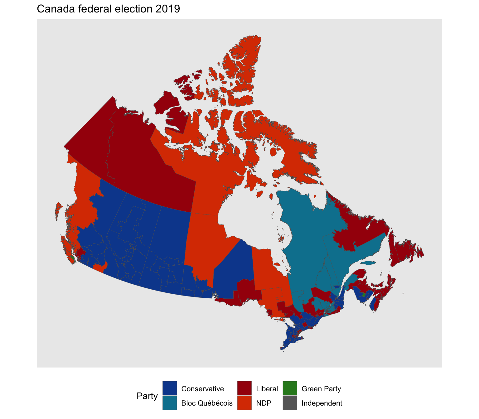 Canada Votes Map Elections fun