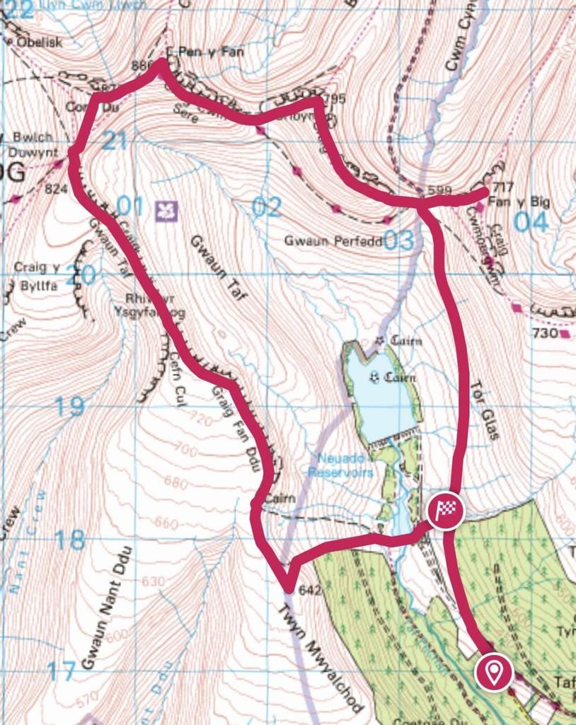 The horseshoe ridge route