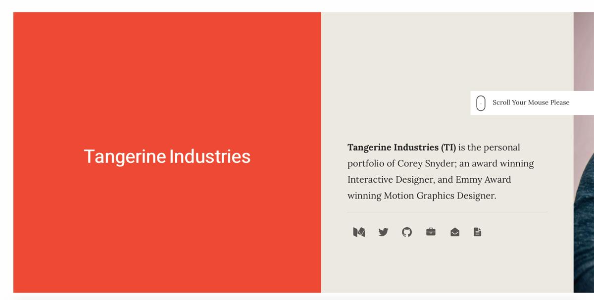 UI design portfolio homepage
