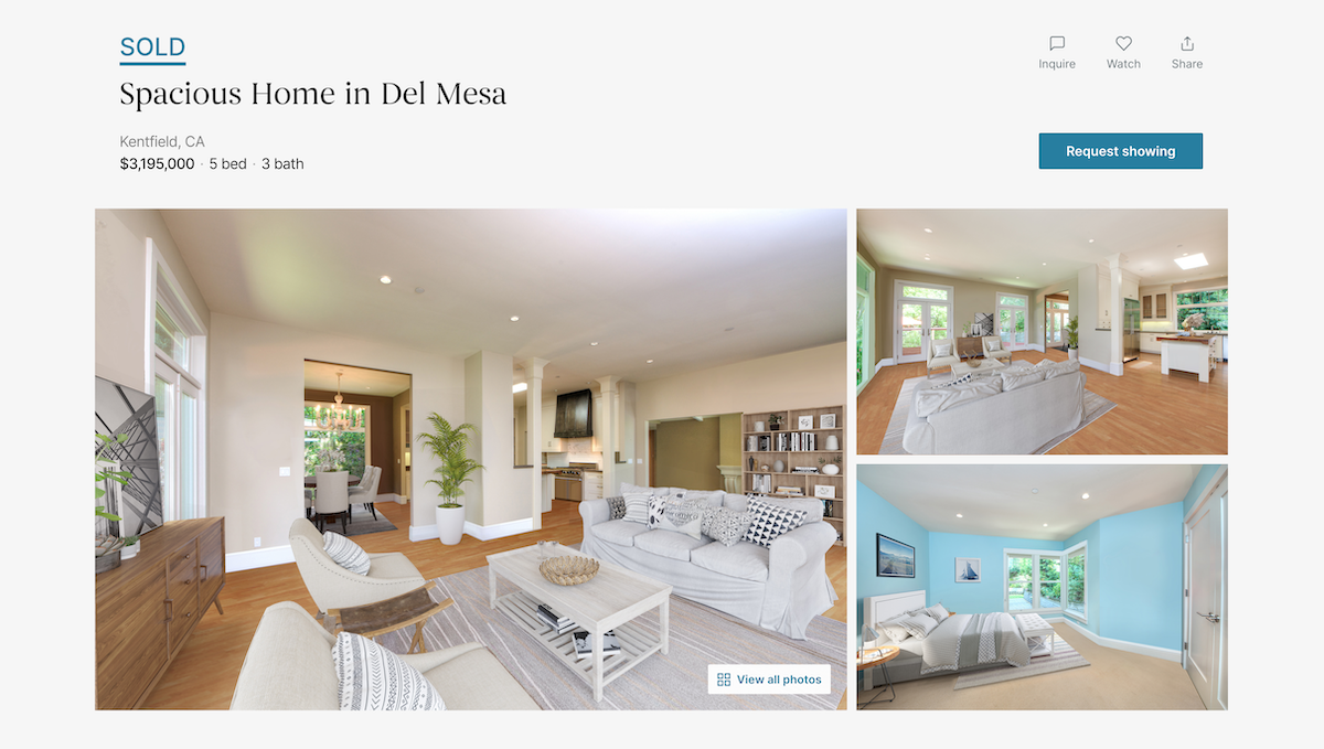 Screenshot of Aalto custom listing home page