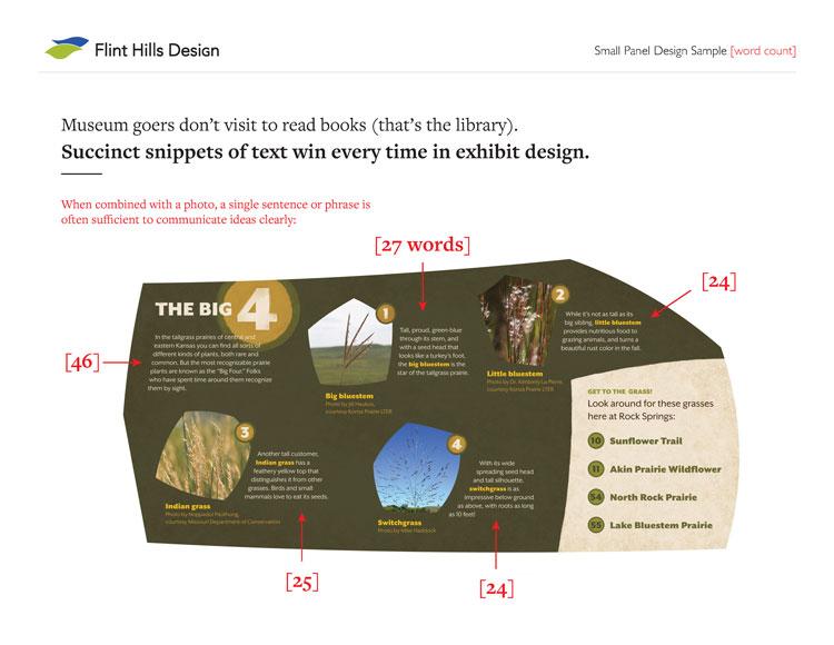 museum design guides - word count grasslands