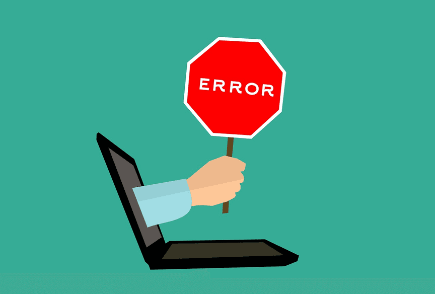 error graphic