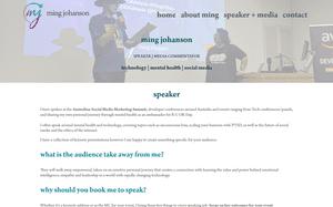 Desktop screenshot of Ming Johanson
