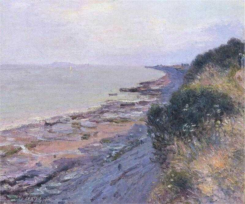 'The English Coast, Penarth' by Alfred Sisley (1897)