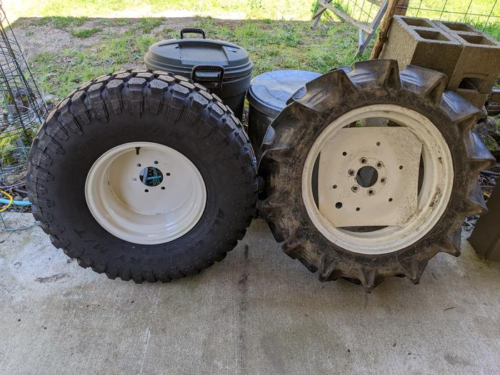 Yanmar Tractor Tires Rear Swap