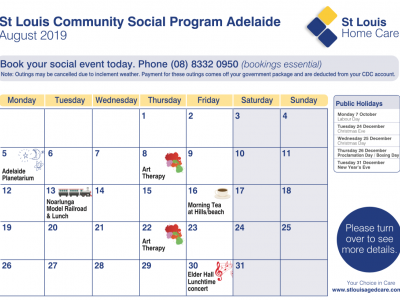 Community Social Program Aug