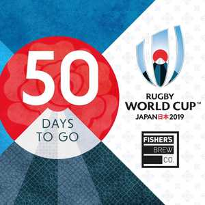 50 days to go until the RWC 2019 and Fishers Brew Co will be showing all of England's group matches...and hopefully all the way through to the final 👍  #WearTheRose #Rugbyinabrewery