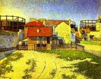 'Gasometers at Clichy' by Signac in 1886, currently at National Gallery of Victoria (NGV), Melbourne, Australia