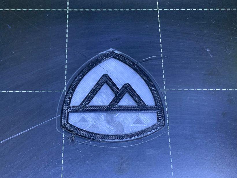 Trailhead Logo Printed with lights on