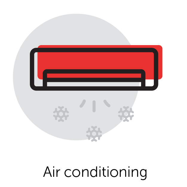 Graphical Icon of Air Conditioner