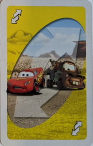 Cars (2012) Yellow Uno Reverse Card