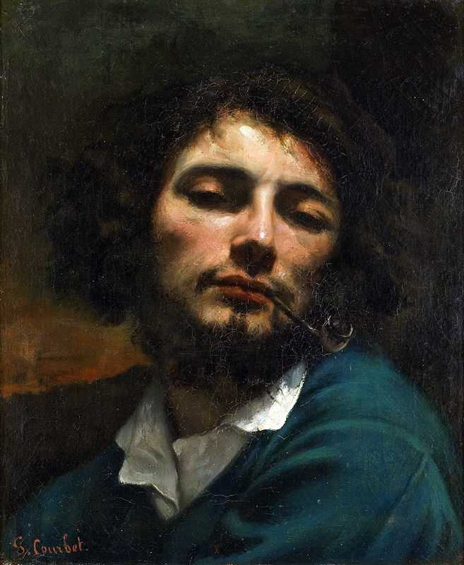 'L'homme à la pipe (Self-portrait, Man with a pipe)' by Gustave Courbet, 1848–49, Musée Fabre, Montpellier