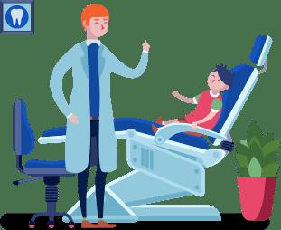 Dentist with children
