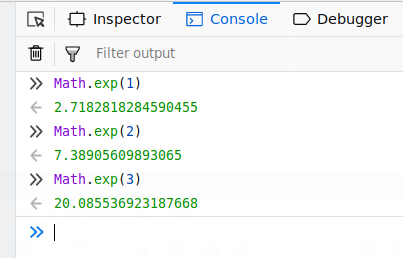 Exponential in Javascript