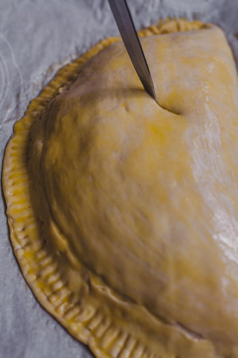 Leek and pancetta turnovers