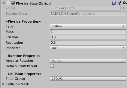 Physics State Component