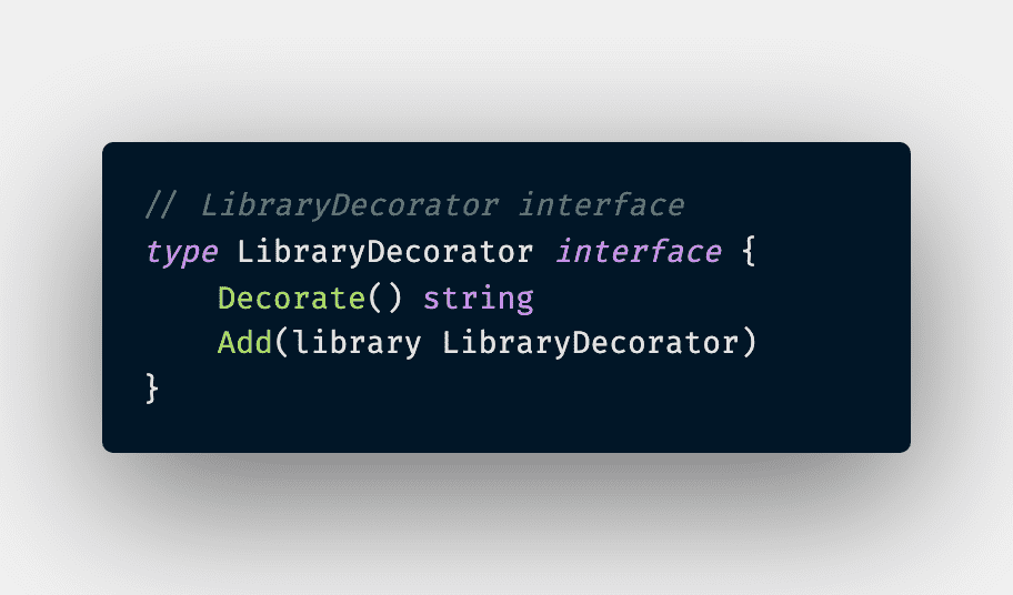 Decorator Library Interface