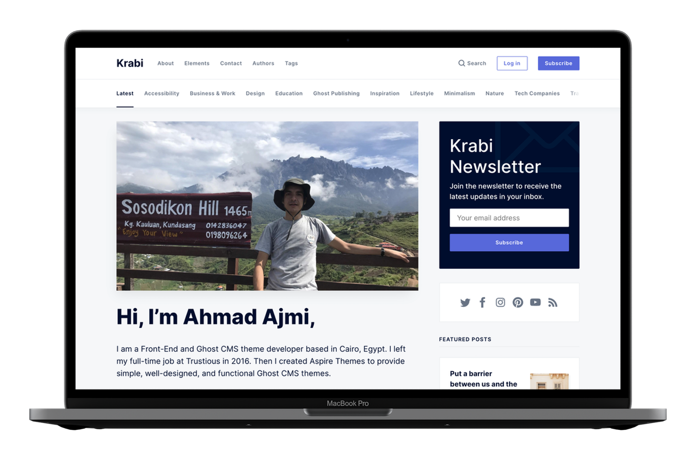 Krabi Custom Homepage