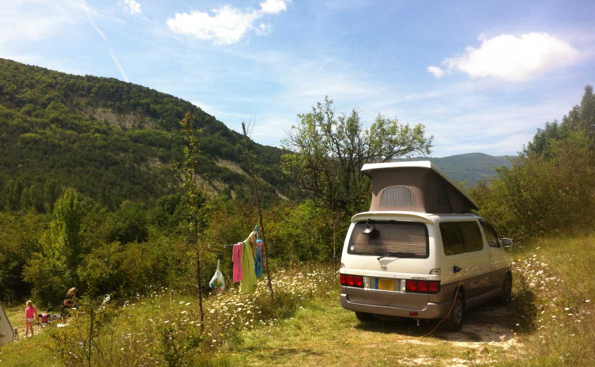 Camping in the Drome region of France