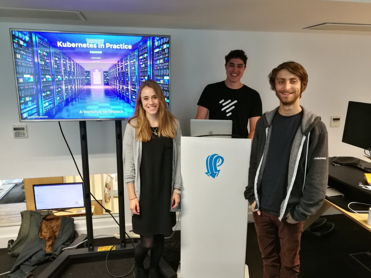 Hannah, James and Luke at a recent training workshop with a customer