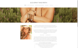 Desktop screenshot of Eco Spray Tans Perth