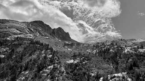 Clouds over Le Conte Canyon
