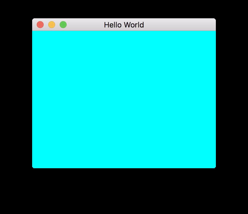 macOS OpenGL hello world using GLFW