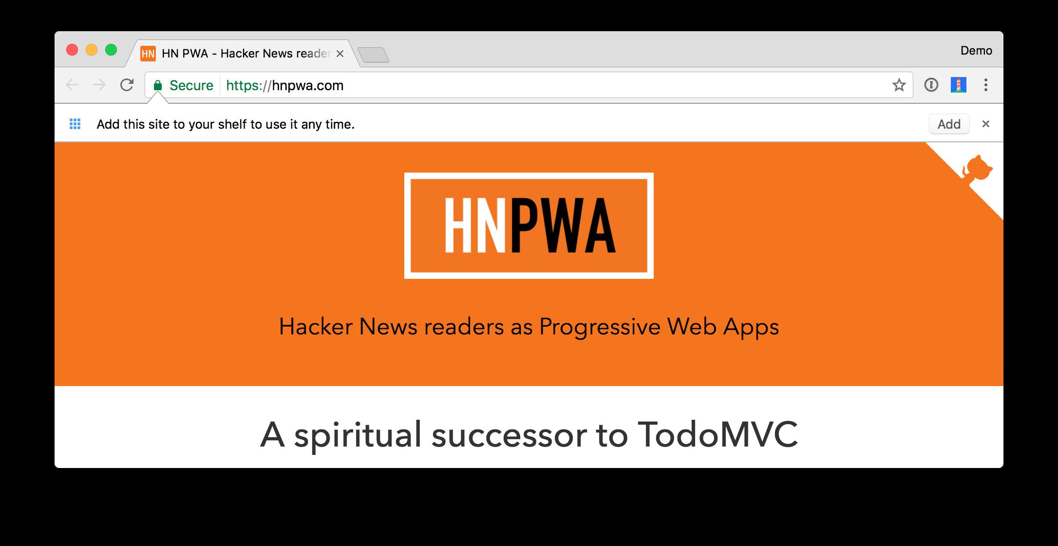 Hacker News PWA