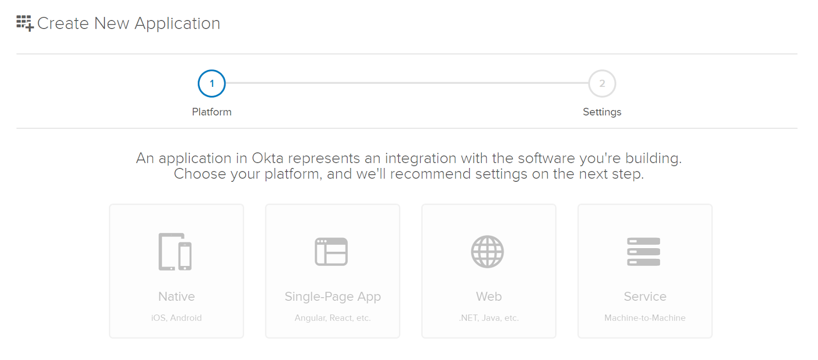 Select Web for Okta App