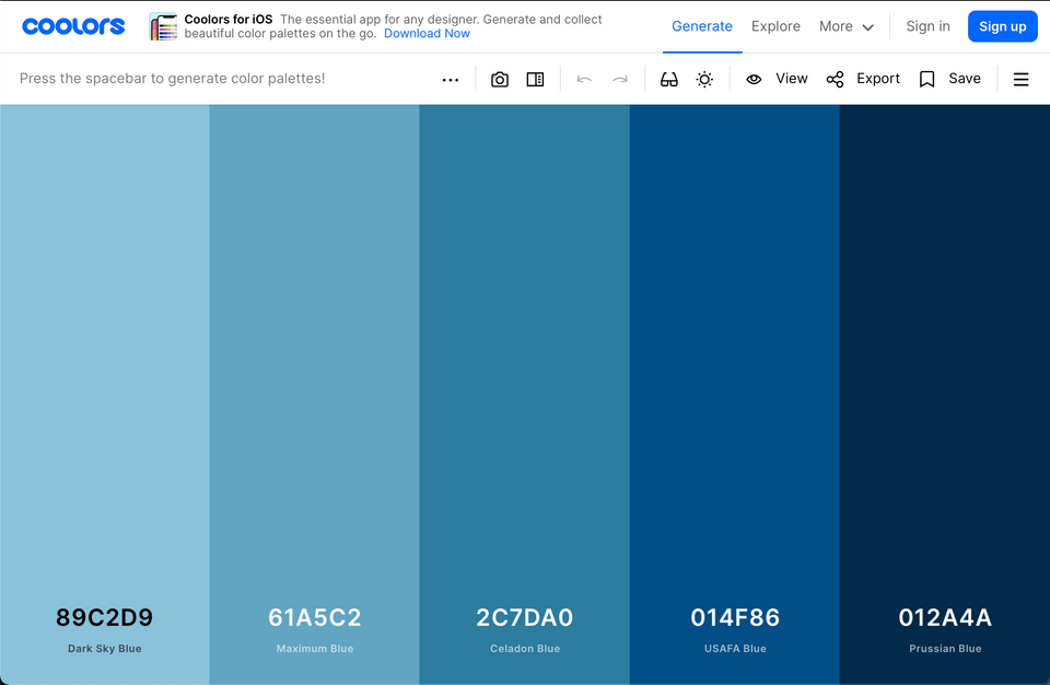 Welcome, Developer - Color Palette