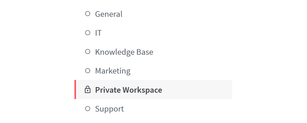 Private wiki workspace