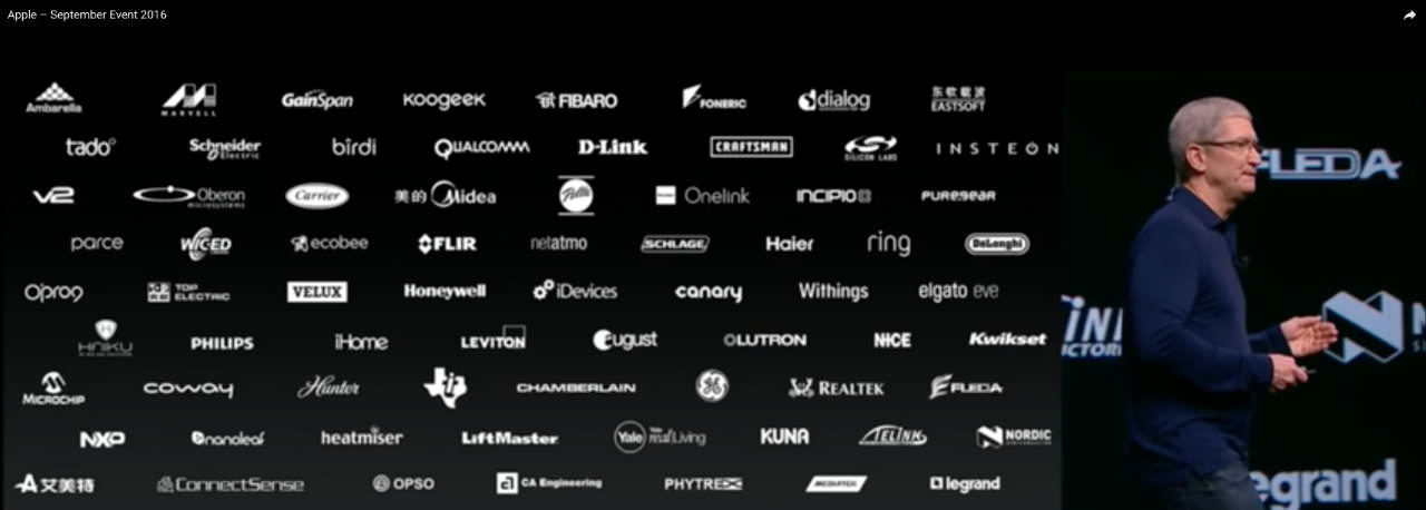 Apple Tim Cook Black Slide White Logos