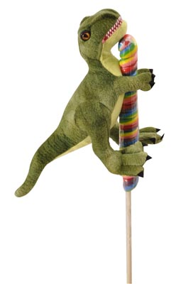 "The Petting Zoo: 8"" Lolly Plush T-Rex"