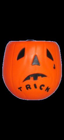 Jumbo Trick or Treat Pumpkin Basket photo
