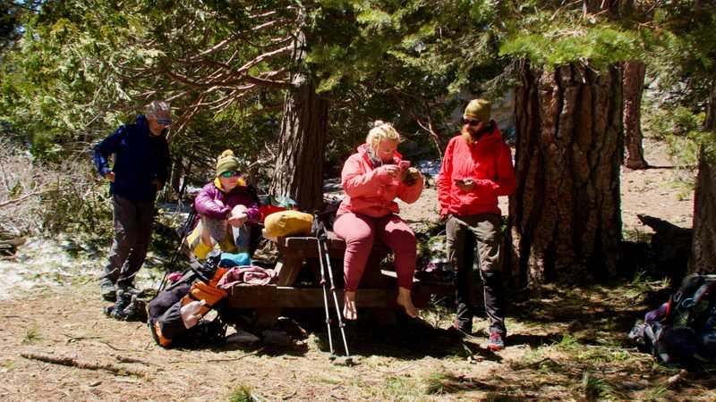 Tengo Hambre, Rainbow Sherbet, Jukebox and Kevin at picnic area