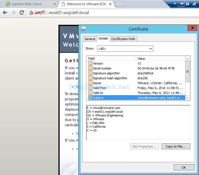 Renew ESXi SSL certificates in vSphere Web Client - 2