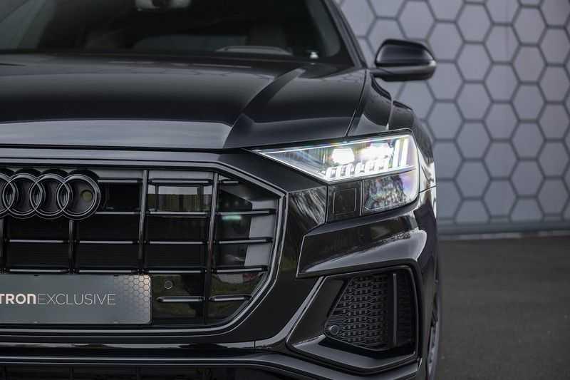 Audi Q8 55 TFSI quattro Pro Line S 3x S-Line! Black pack, 4-wiel-best. / Massage, Verw. & Koelb. stoelen, Bang & Olufsen 3D + Elek.Haak + Ambiente verlichting afbeelding 8