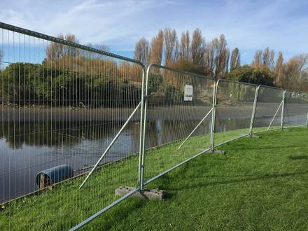 Heavy Duty Anti-Climb RT Fencing Installed Around Lake