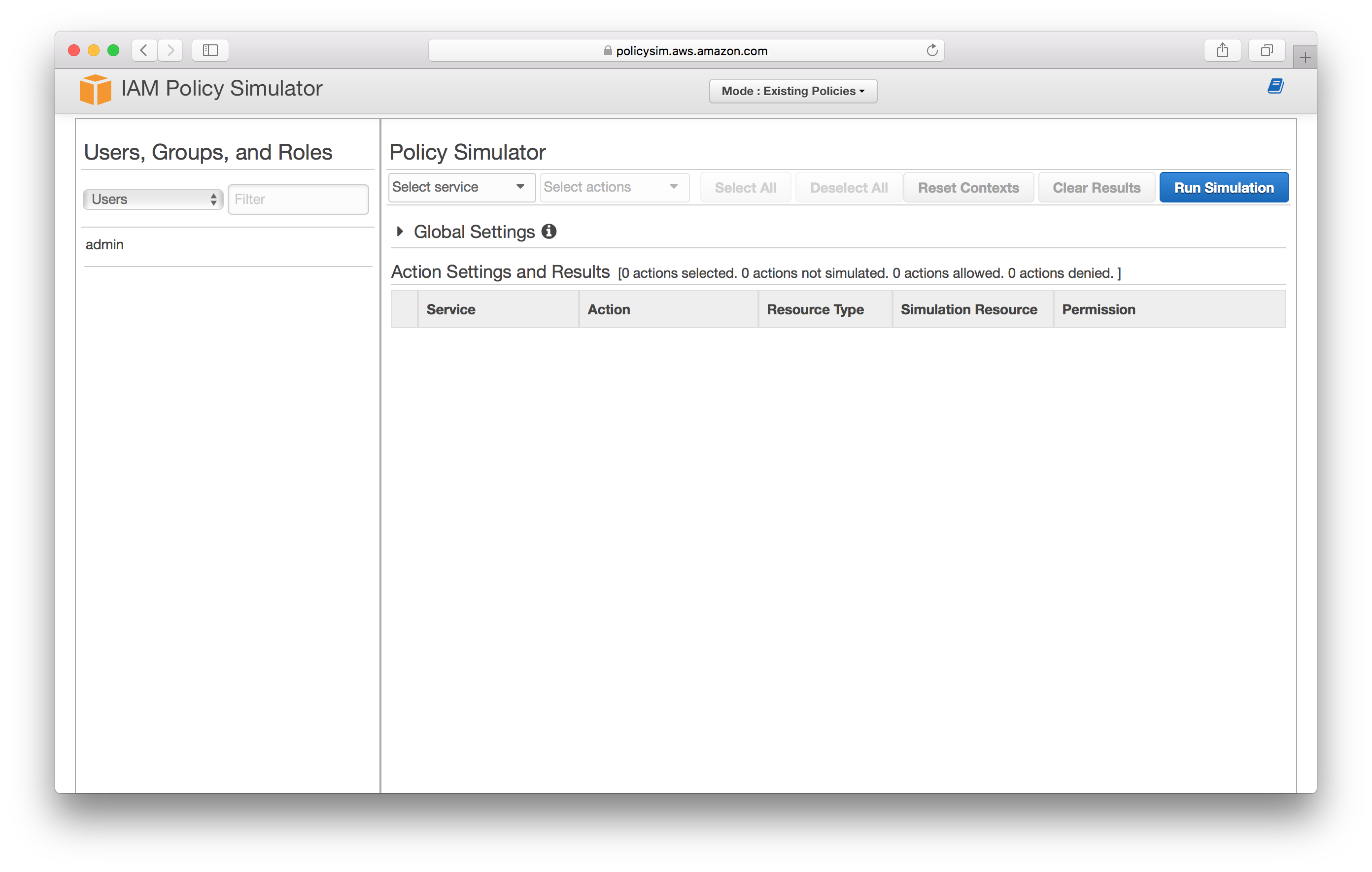 Open IAM Policy Simulator