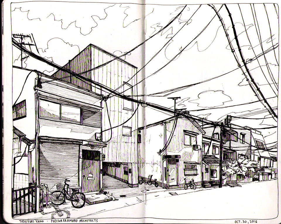 A Japanese alleyway.