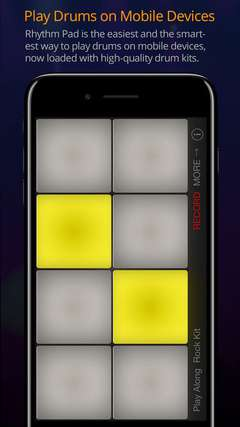 Rhythm Pad is the easiest and the smartest way to play drums on mobile devices, now loaded with high quality drum kits.