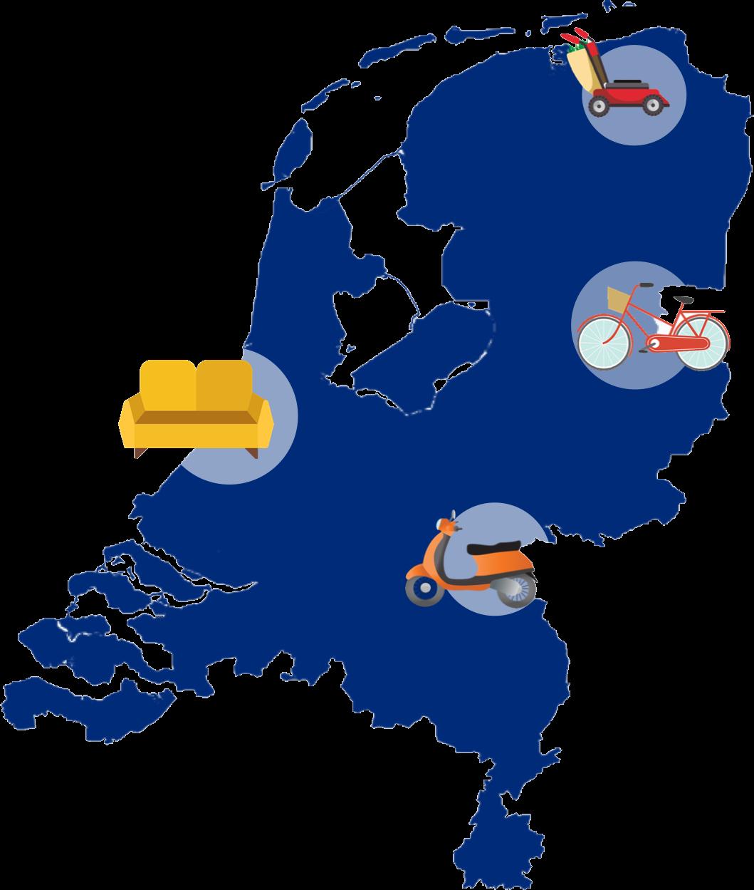 Bezorgingen door Nederland